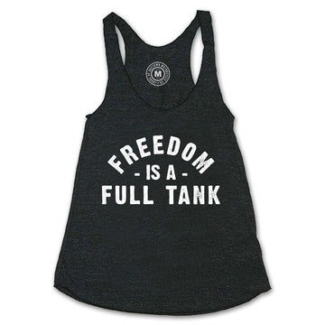 Lords Of Gastown - Freedom Is A Full Tank - Heather Charcoal Racerback Tank