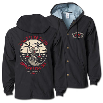 Lords Of Gastown - Get Lost To Find Yourself - Hooded Windbreaker Coach Jacket