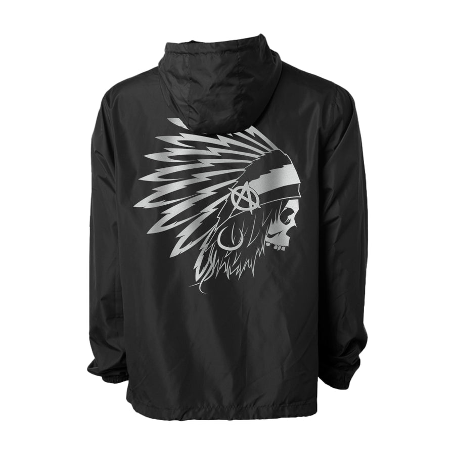 Lords Of Gastown - G.O.A.T. Collection - OG Chief Windbreaker - Black w/ Reflective Silver Design