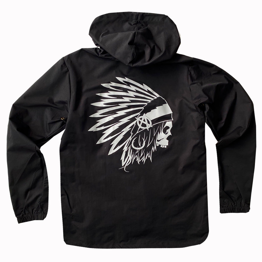 Lords Of Gastown - OG Chief - Hooded Windbreaker Coach Jacket - Black