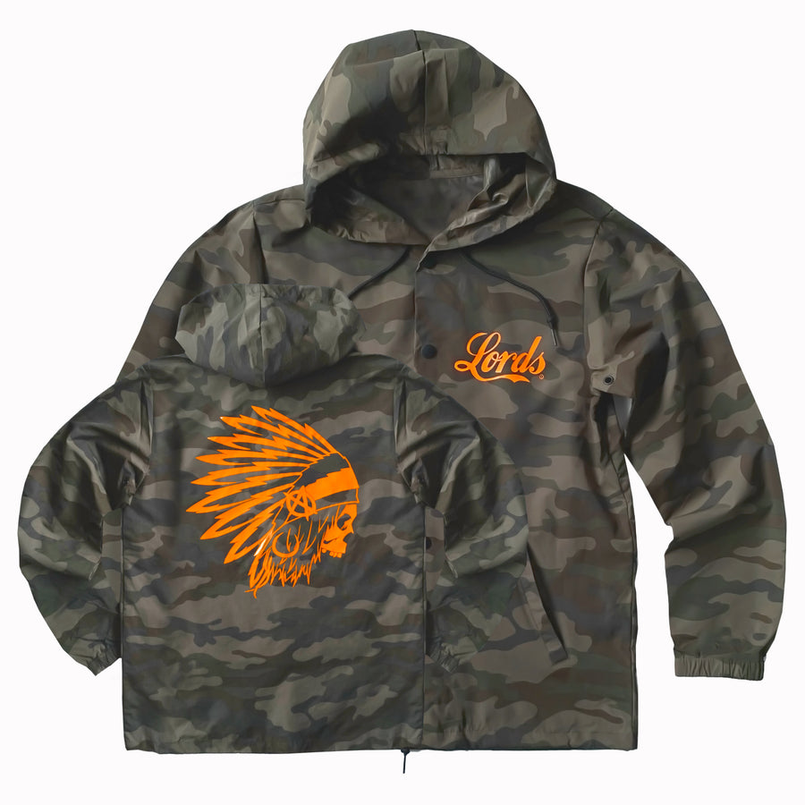 Lords Of Gastown - OG Chief - Hooded Windbreaker Coach Jacket - Camo