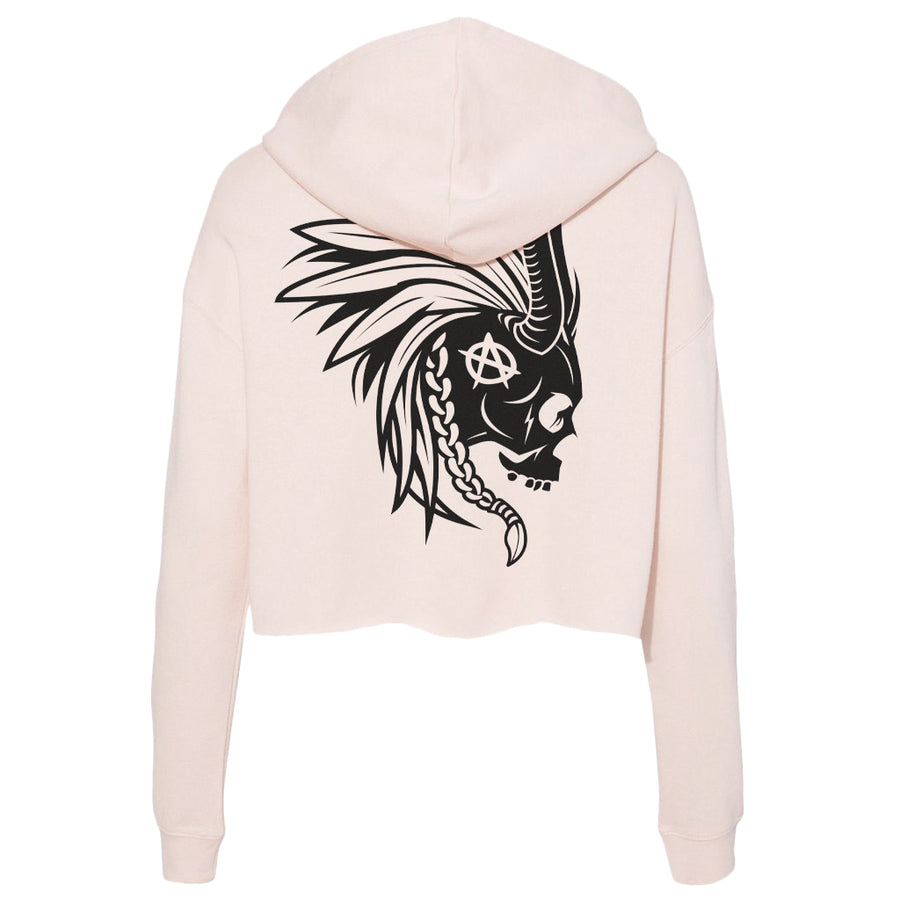 Lords Of Gastown - G.O.A.T. Collection - Mohawk - Premium Ladies Blush Crop Hoodie