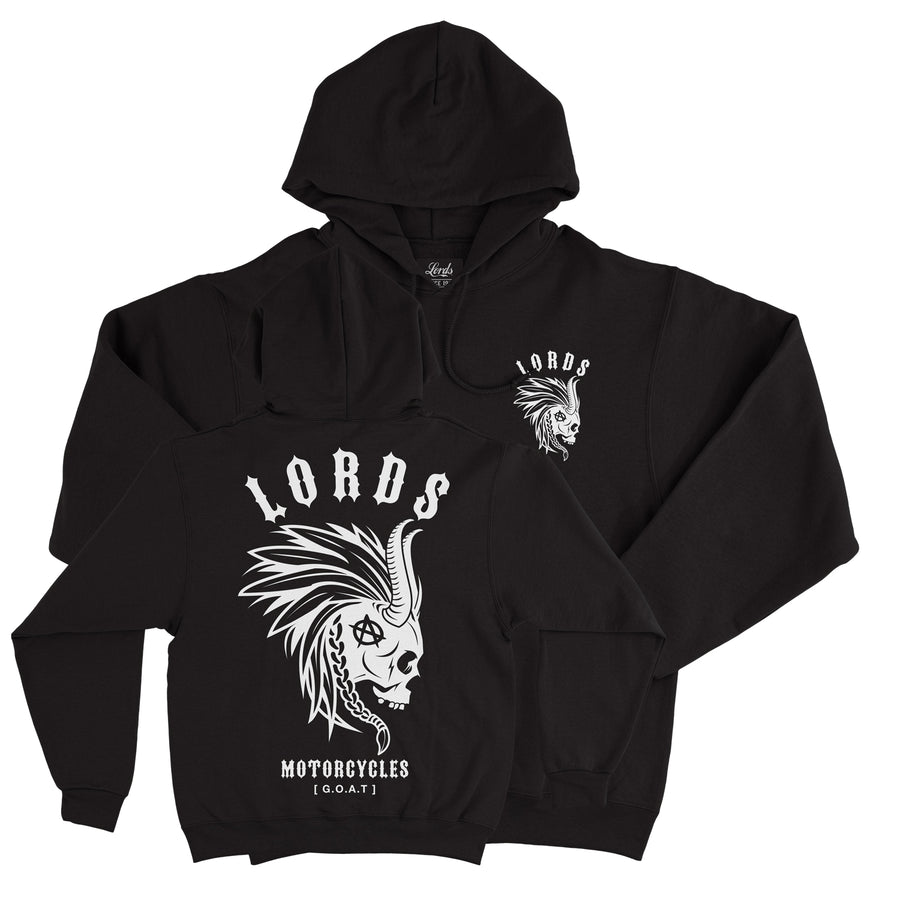Lords Of Gastown - G.O.A.T. Collection - Mohawk Black Heavyweight Cross-Grain Hoodie