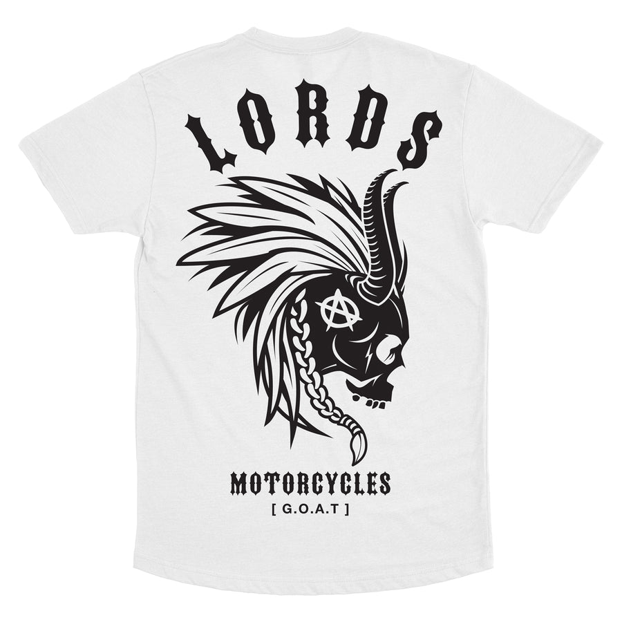 Lords Of Gastown - G.O.A.T. - Collection - Mohawk - White Long Tee