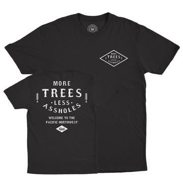Lords Of Gastown - More Trees Tee - Black Unisex Tee