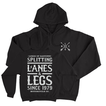 Lords Of Gastown - Splitting Lanes - Black Pullover Hoodie