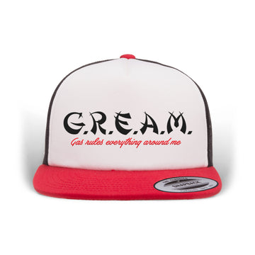PRE ORDER - Lords Of Gastown - G.R.E.A.M. - Trucker Hat - Black / Red / White