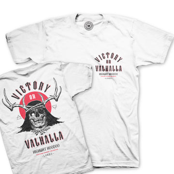 Lords Of Gastown - Victory or Valhalla Tee - White Unisex Tee