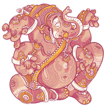Load image into Gallery viewer, Ganesh1 - Unisex - White