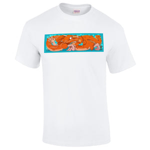 Shipping Container Dragon - Unisex - White