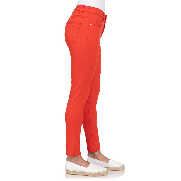 red jeans, rode stretchbroek