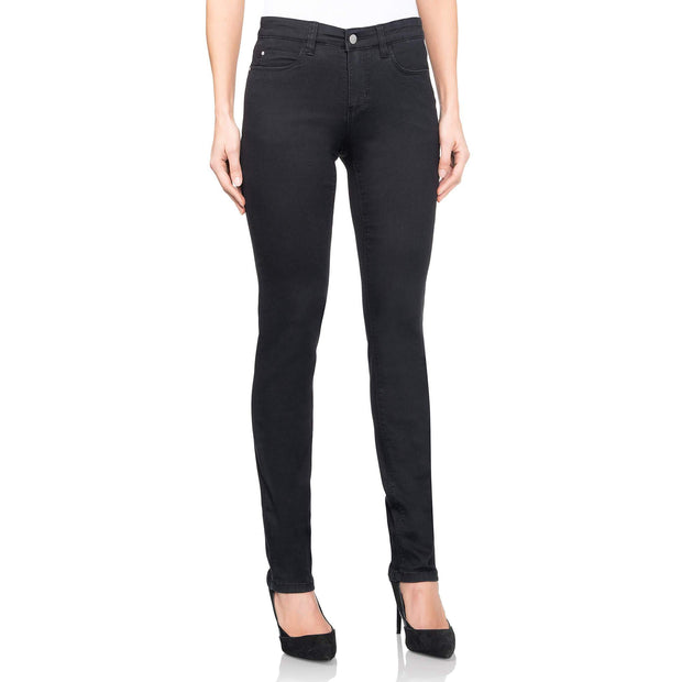 wonderjeans regular black jeans WC82200 front view