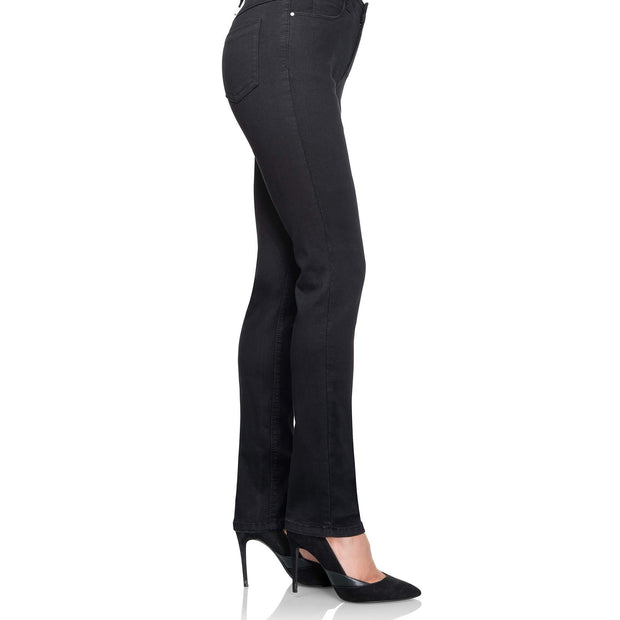 wonderjeans regular black jeans WC82200 side view