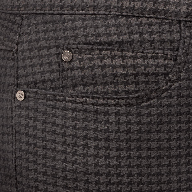Wonderjeans detail Regular Black Hounds tooth of pied-de poûle