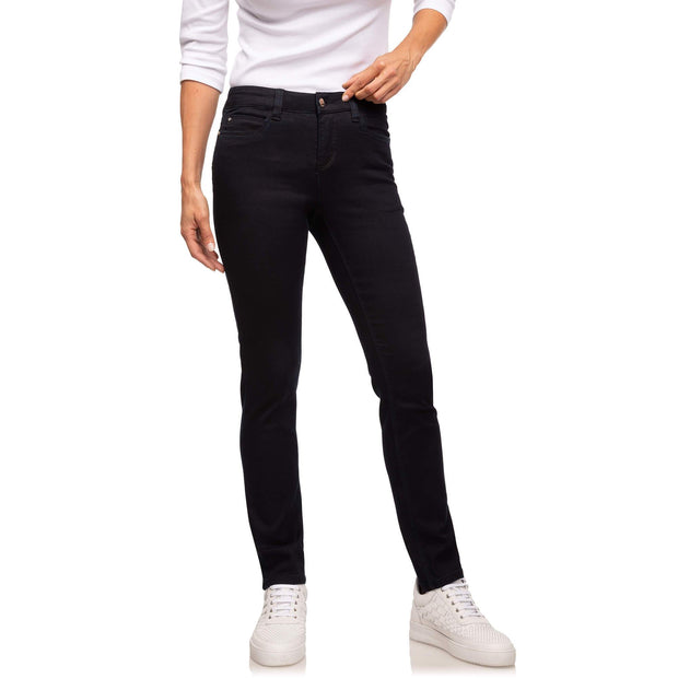 wonderjeans Regular Blue Denim front, stretch broek