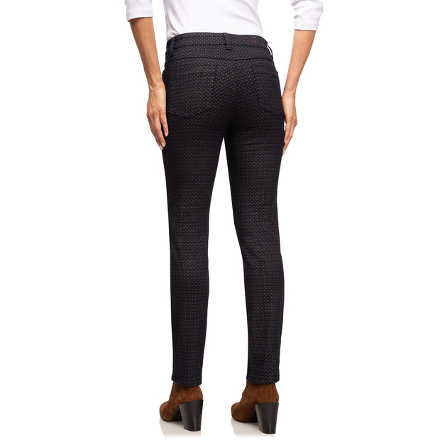Wonderjeans black Grey Diamond print - achterkant