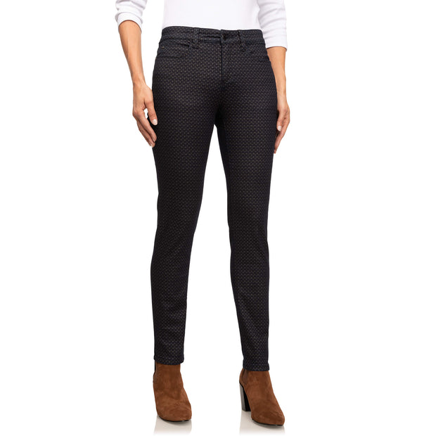Wonderjeans Black Grey Diamond Print- voorkant