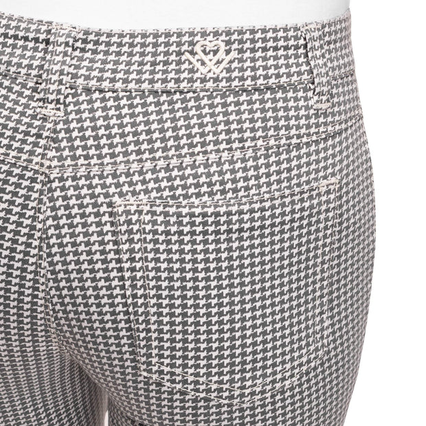 Wonderjeans regular Black White Hounds tooth of Pied-de -poûle detail