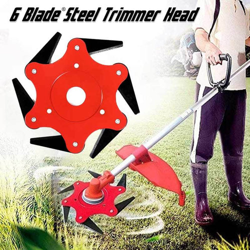 6 Blade™ Steel Trimmer Head