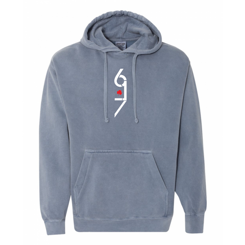 617 X Comfort Colors Hooded Sweatshirt