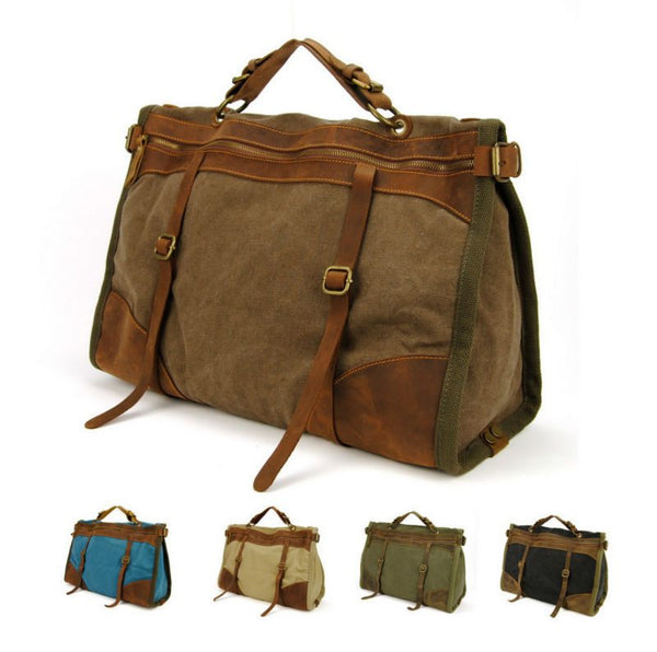 Canvas & Leather Duffle