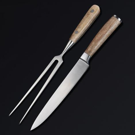 Acacia Wood Handle Carving Set