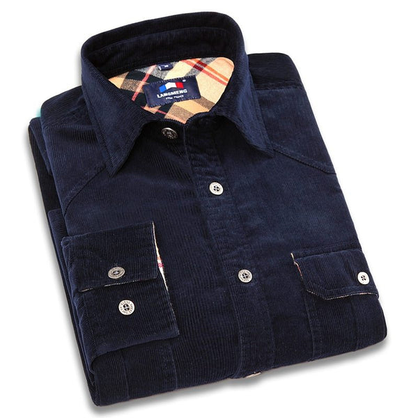 Mens Corduroy Long Sleeve Shirt