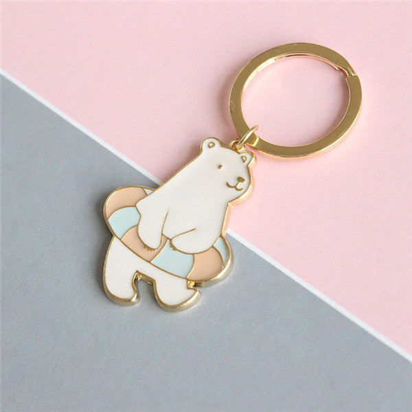 Penguin Polar Bear Key Ring