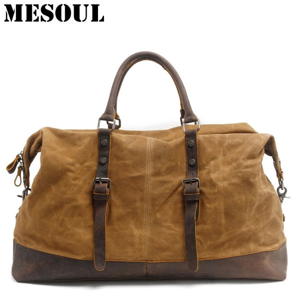 Waterproof Leather Weekender Duffel