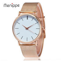 Womens Rose Gold Watch with Mesh Metal Strap