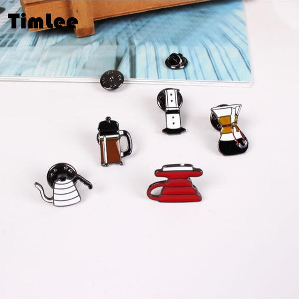 Filter Coffee Acrylic Brooches