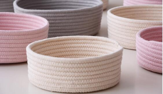 Woven Cotton Storage Baskets