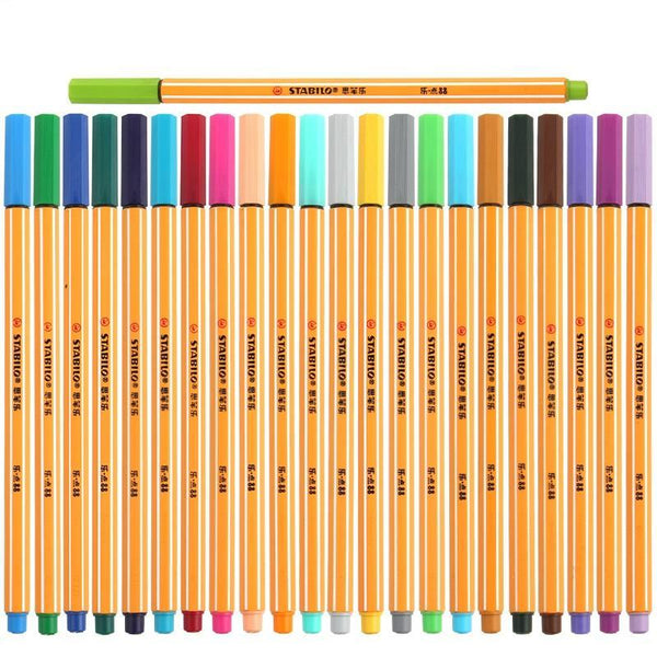 25pc Stabilo Colored Pen Set