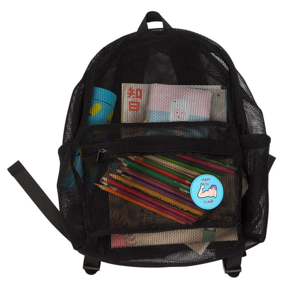 Transparent Mesh Backpack