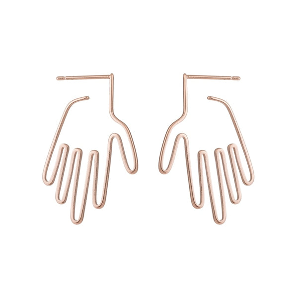 Rose Gold Palm Studs