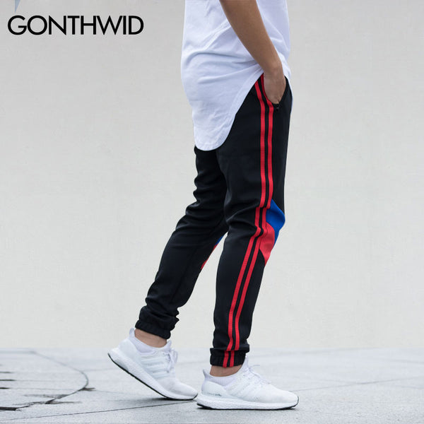 Patchwork Casual Joggers