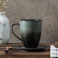 Retro Speckle Gradient Glaze Ceramic Mug