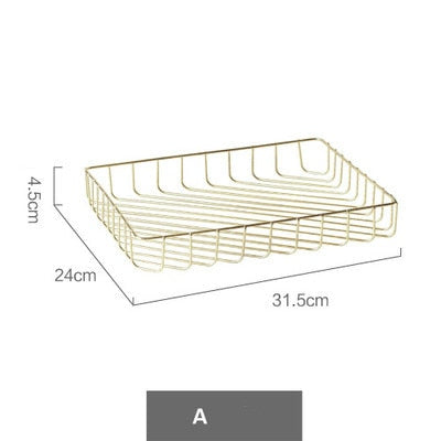 Rose Gold Wire Table Organiser Tray