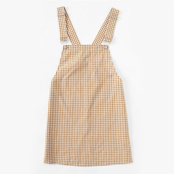 Cute Gingham Pinafore