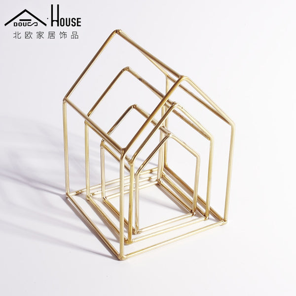Rose Gold Wire House Decoration