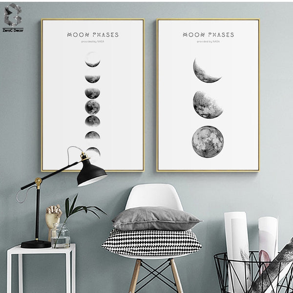 Moon Phases Wall Art