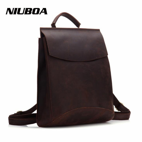 Genuine Leather Womens Minimal Backpack