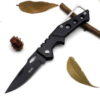 Brushed Steel Folding Survival Knife