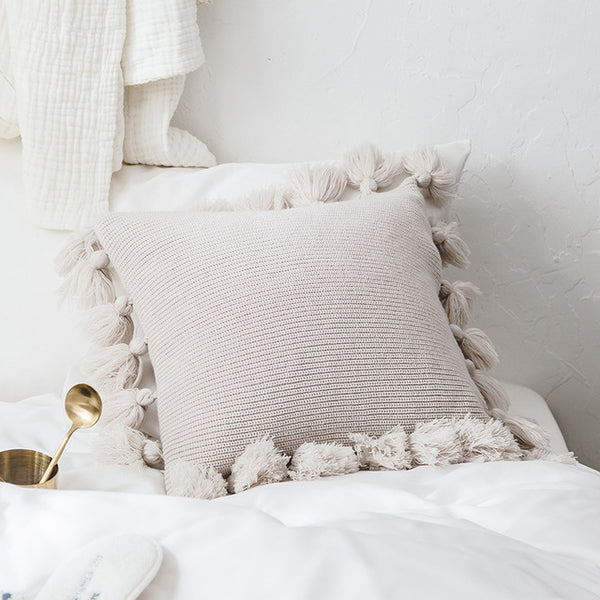 Soft Tassel Cushion Cover
