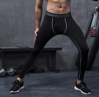 Mens Snow Camo Compression Pants