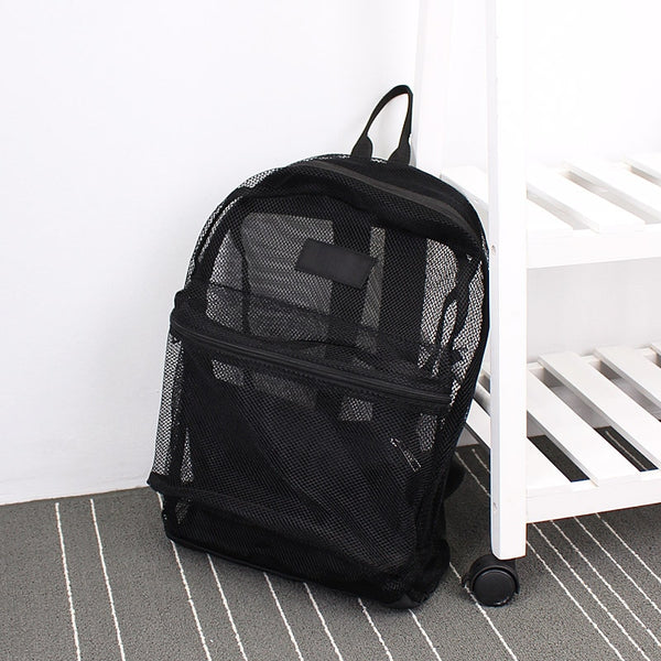 Monochrome Transparent Mesh Backpack