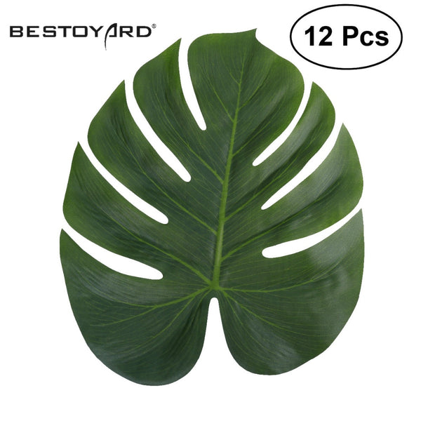 12pc Artificial Monstera Leaf