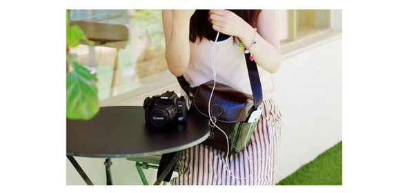 Leather Vintage Style Camera Bag