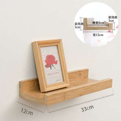 Wooden Wall Display Shelf