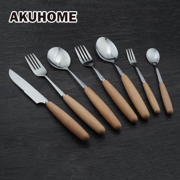 Beech Wood Handled Cutlery